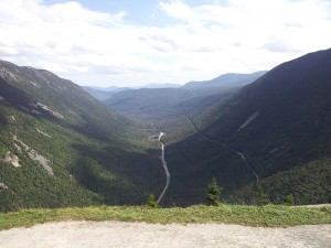Crawford notch Mount Willard summer hiking views