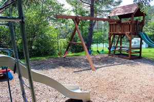 Play area for kids at Carlson's lodge